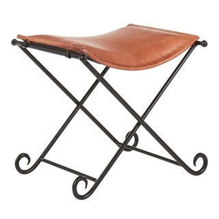 Link to Carbon Loft Cousineau Industrial Urban Leather Stool Similar Items in Ottomans & Storage Ottomans