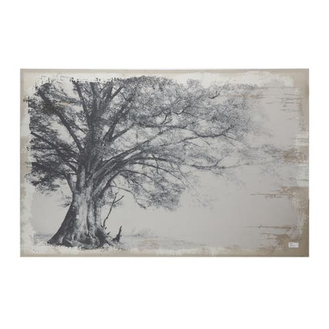 Black and Gray Arboreal Shelter Canvas Print