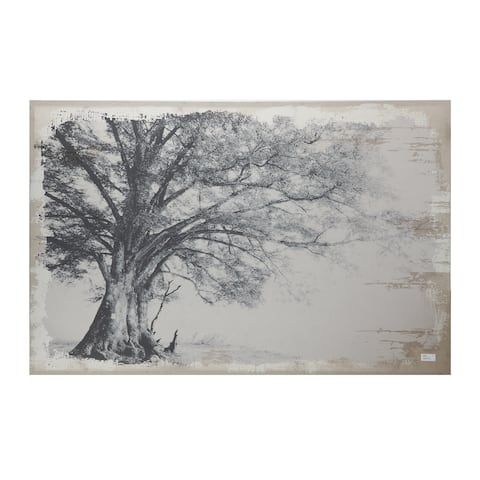 Black and Gray 39-inch Arboreal Shelter Canvas Print