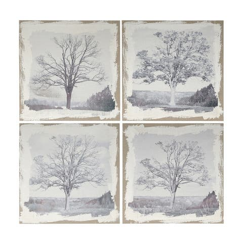Danica 20-inch Gray Arboreal Prints (Set of 4)