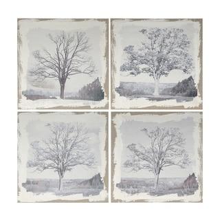 Danica 20-inch Gray Arboreal Prints (Set of 4)