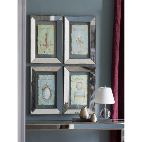 Silver Orchid 24-inch Gray Framed Decor Prints (Set of 4)
