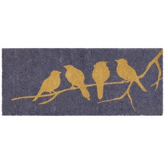 Birds on Branch   Multi 24 x 57  Extra Thick Handwoven  Durable