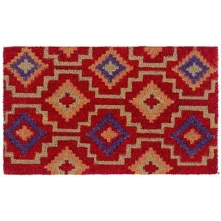 Lhasa Kilim Doormat   Multi 18 x 30   Non-Slip Durable