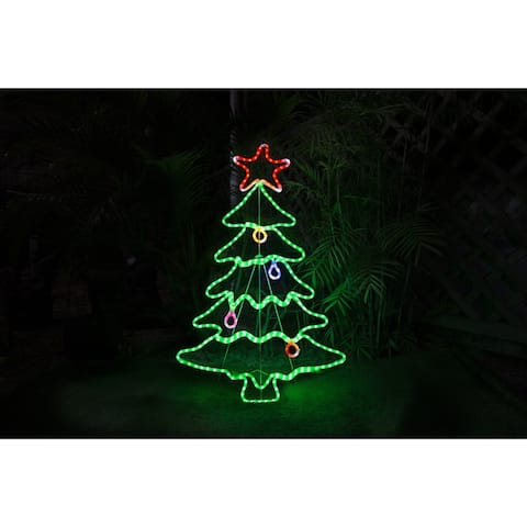 45in. LED Rope Light Tree Christmas Decoration