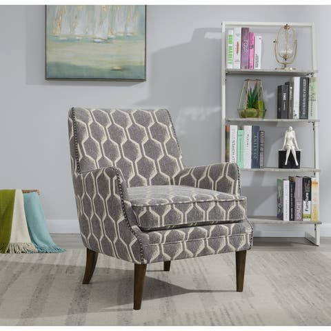 Emerald Home Teagan Transitional Nailhead Accent Chair
