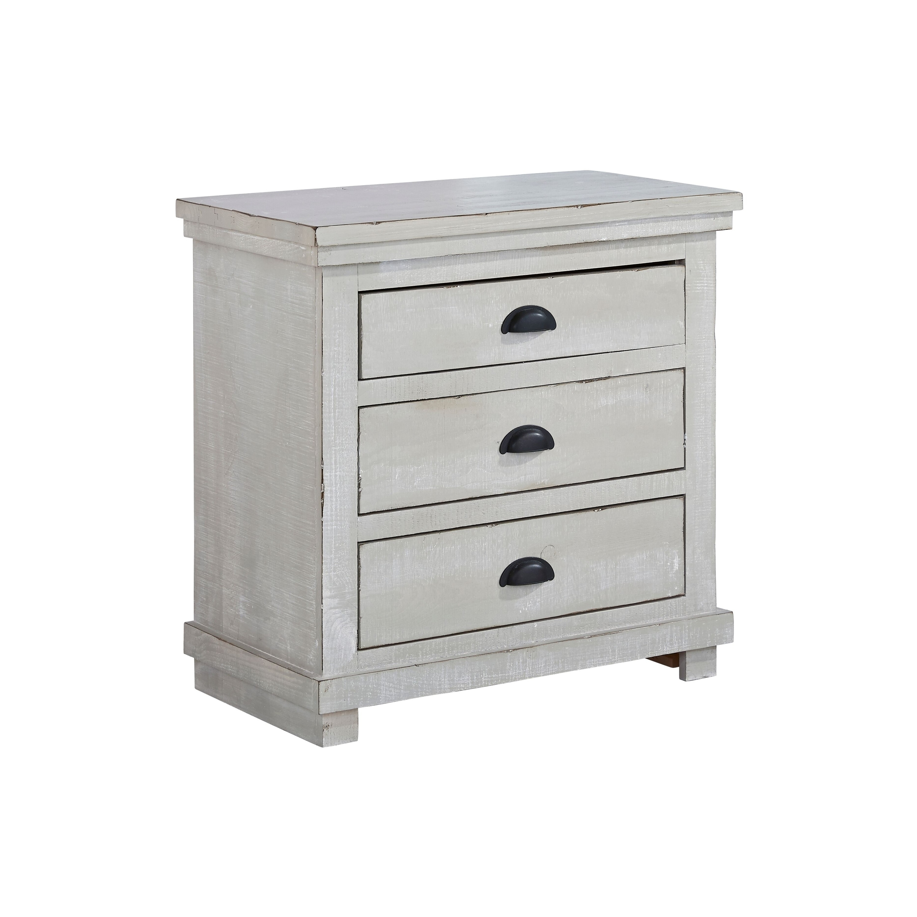 Progressive Willow Chalk Gray Nightstand