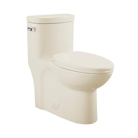 Sublime One Piece Elongated Left Side Flush Handle Toilet In Bisque 1.28 gpf - N/A