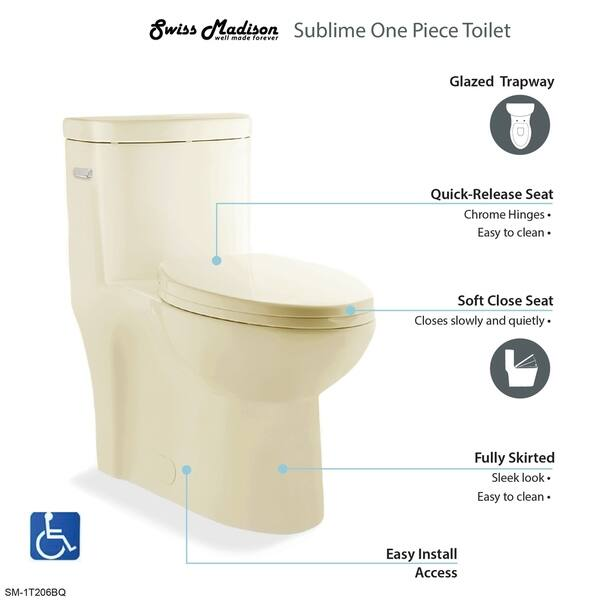 Surprising Shop Sublime One Piece Elongated Left Side Flush Handle Cjindustries Chair Design For Home Cjindustriesco