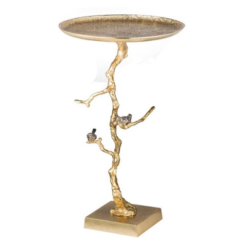 Shiny Gold 27-inch Contemporary Table