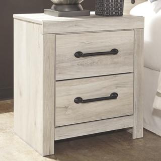 Carbon Loft Dubiel Whitewash 2-drawer Nightstand