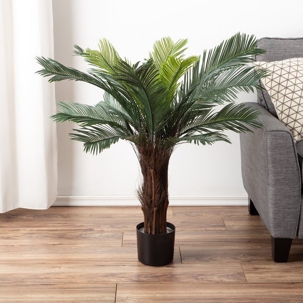Artificial Cycas Palm Tree by Pure Garden - 16 x 16 x 36. Opens flyout.