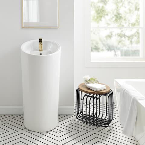 St. Tropez One Piece Pedestal Sink