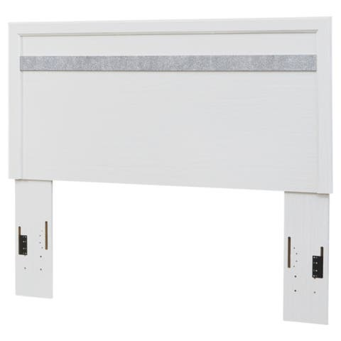 Jallory White Panel Headboard