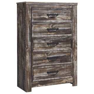 Lynnton Rustic Brown Five Drawer Chest