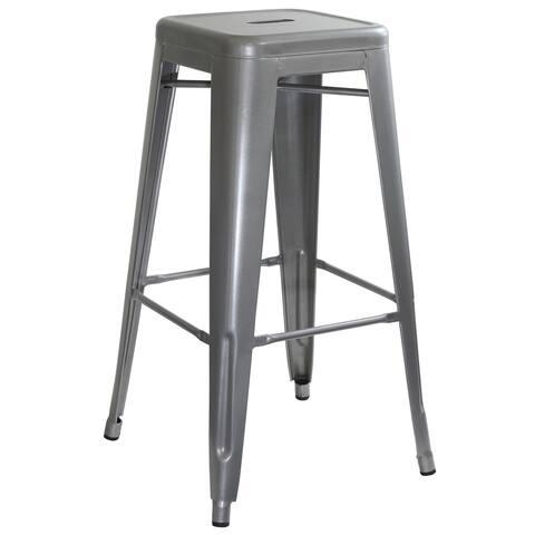 Loft Silver Metal Bar Stool