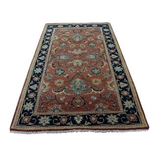 """Shahbanu Rugs Antiqued Heriz Re-Creation All Over Design Hand-Knotted Rug (3'0"""" x 5'2"""") - 3'0"""" x 5'2"""""""