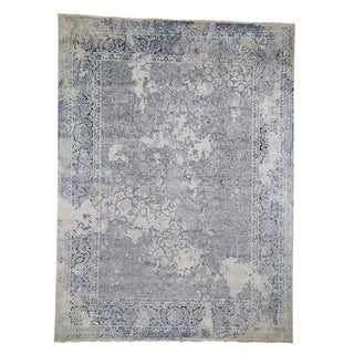 """Shahbanu Rugs Broken Persian Design With Pure Silk Hand-Knotted Oriental Rug (9'0"""" x 12'0"""") - 9'0"""" x 12'0"""""""