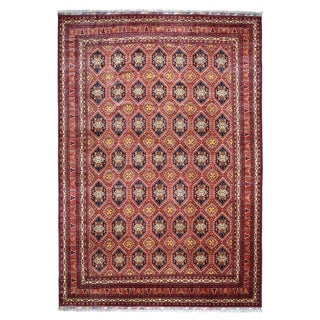 """Shahbanu Rugs Afghan Khamyab Natural Dyes Pure Wool Hand-Knotted Oriental Rug (10'3"""" x 13'3"""") - 10'3"""" x 13'3"""""""