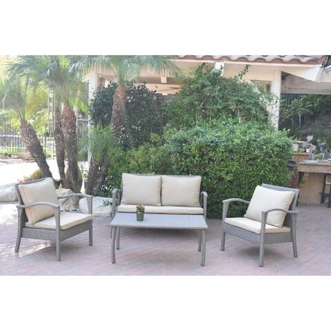 Meredith 4 Peces Conversation Set with 2 Inch Tan Cushions