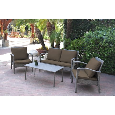 Meredith 4 Peces Conversation Set with 2 Inch Brown Cushion
