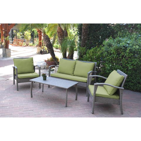 Meredith 4 Peces Conversation Set with 2 Inch Sage Green Cushion