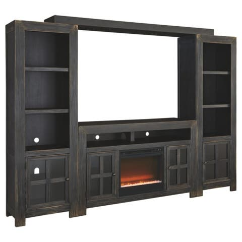 Entertainment System with Fireplace Insert