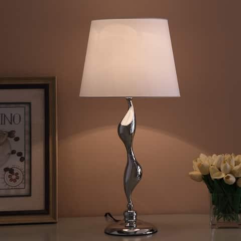 Erte Art Deco Silhouette Silver Table Lamp