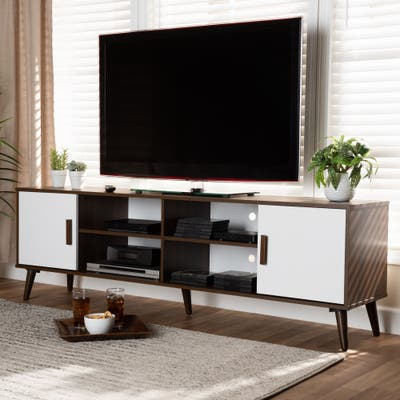 Quinn Mid-Century Modern 2-Door TV Stand