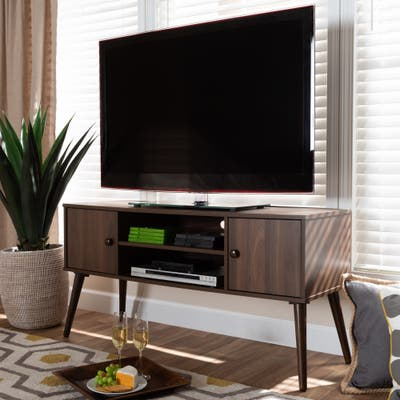 Carson Carrington Batnaset Mid-century Modern 2-door TV Stand