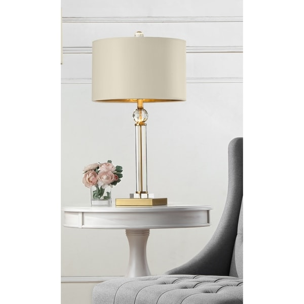 Perspicio Solid Crystal Gold Column Table Lamp. Opens flyout.