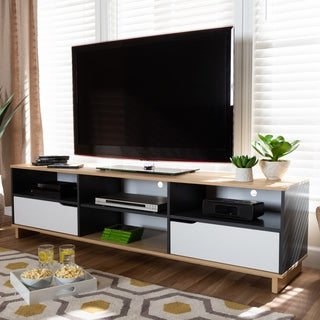 Reed Mid-Century Modern 2-Drawer TV Stand