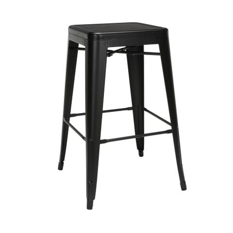 """OFM 161 Collection Industrial Modern Fully Assembled 30"""" Backless Bar Height Metal Stools"""