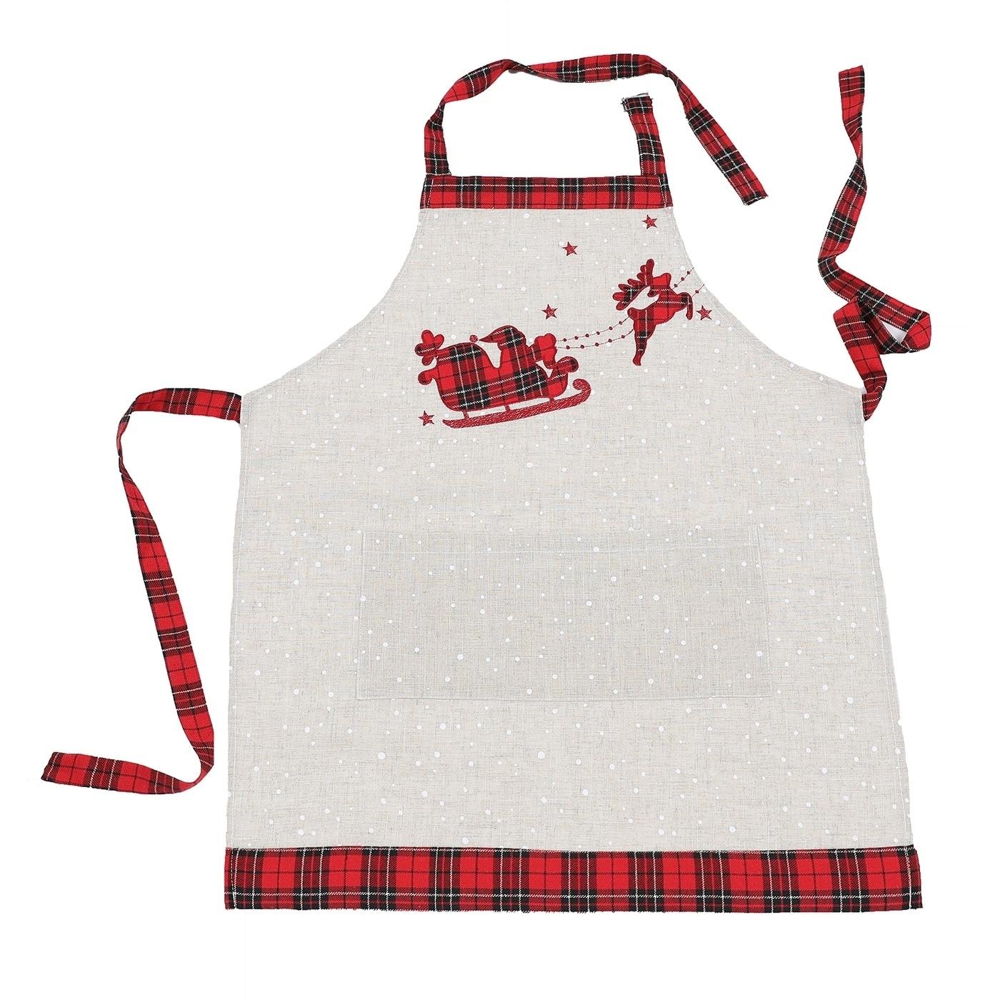 Christmas Apron Santa Reindeer Snowman Adults Apron Chef Cooking Home Gift