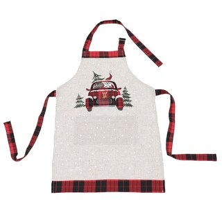 Santa Claus Riding On Car Christmas Apron Adults Size 30 by 26-Inch