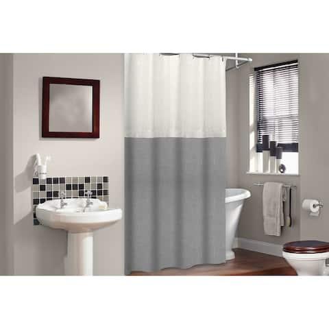 Veratex Soho Linen Shower Curtian
