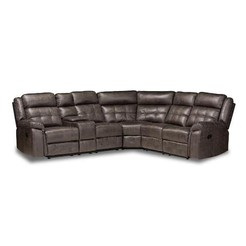 Vesa Modern and Contemporary Upholstered 6-Piece Sectional