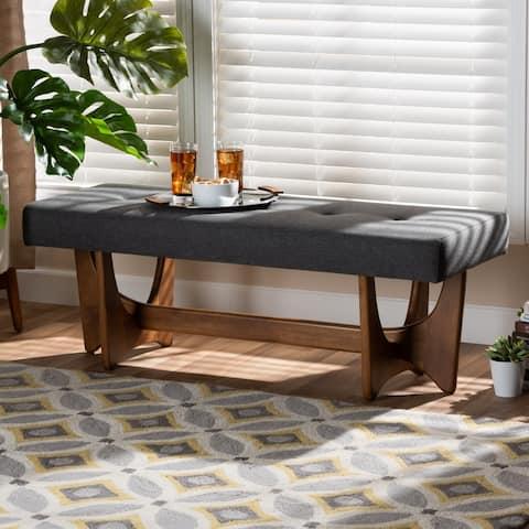 Carson Carrington Ullarp Mid-century Modern Upholstered Bench