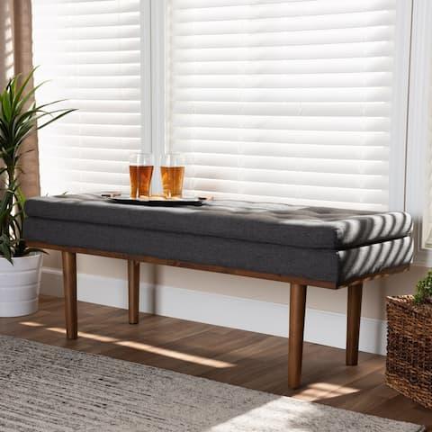 Carson Carrington Ufas Mid-century Modern Upholstered Bench