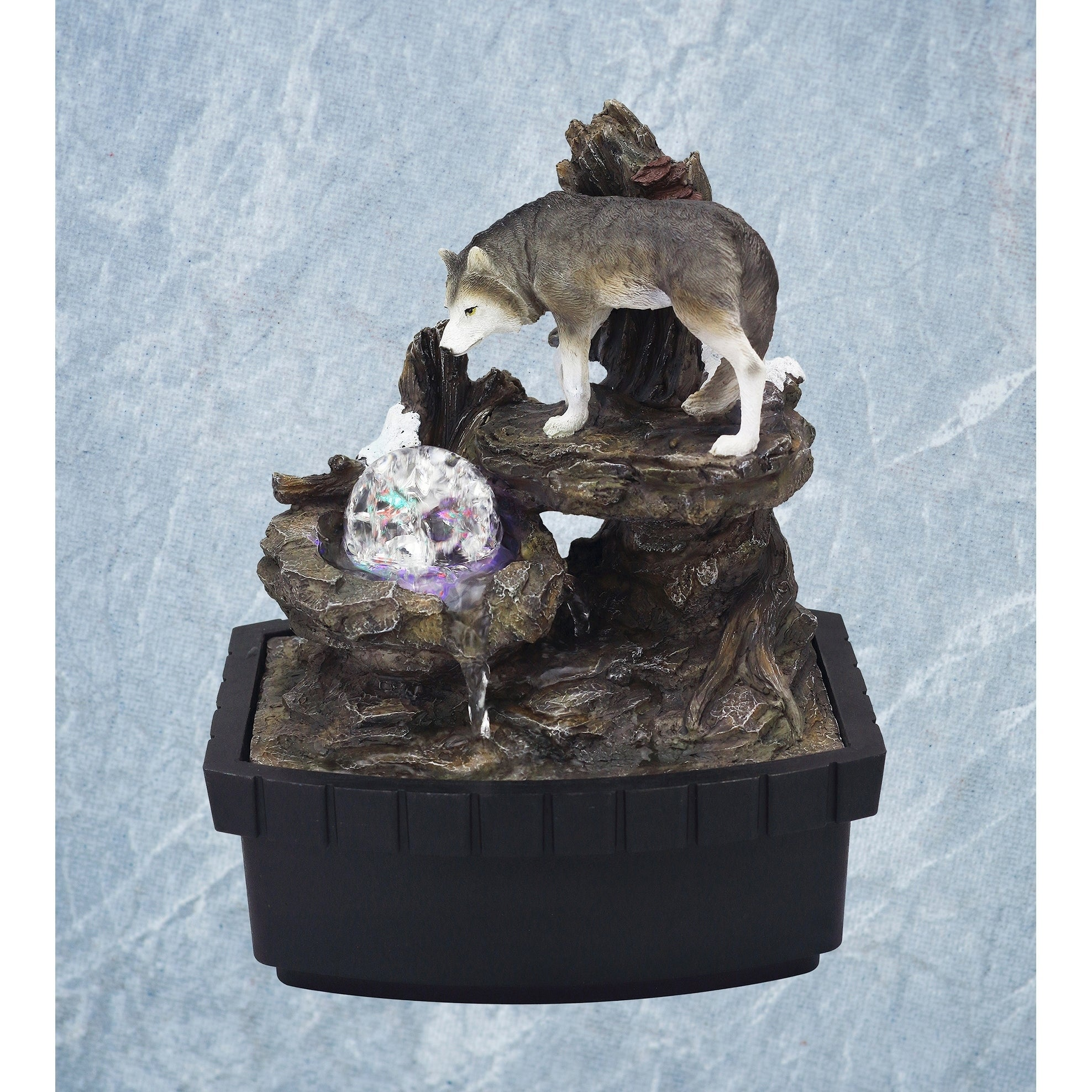 Shop 10 25 In Wolf Table Indoor Fountain Overstock 29077946