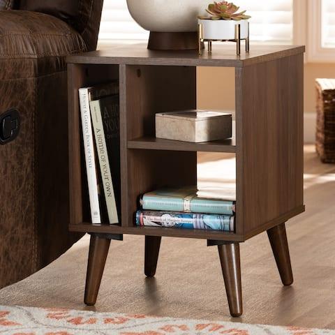 Carson Carrington Bankekind Modern Walnut Wood End Table