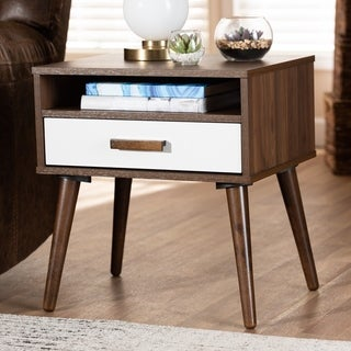 Link to Carson Carrington Uljeberg Mid-century Modern 1-drawer Wood End Table Similar Items in Living Room Furniture