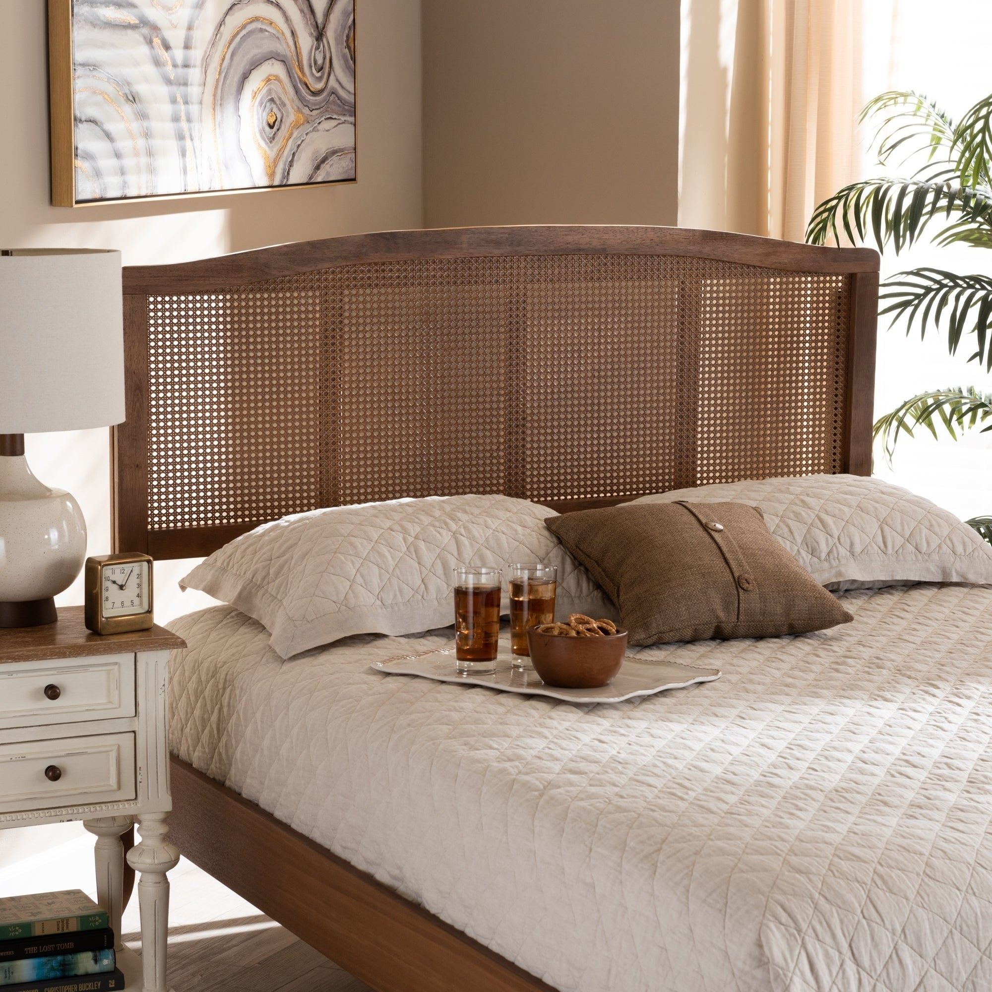 Carson Carrington Ugglom Wood And Synthetic Rattan Headboard On Sale Overstock 29078105