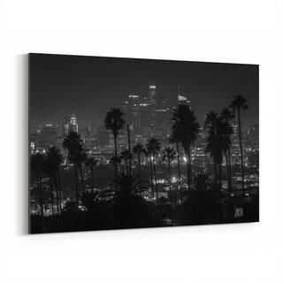 Noir Gallery Los Angeles Cityscape Skyline Canvas Wall Art Print
