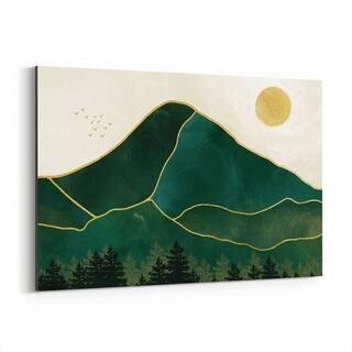 Noir Gallery Abstract Nature Mountains Modern Canvas Wall Art Print