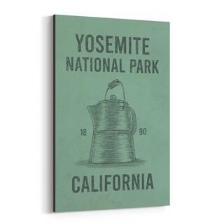 Noir Gallery Yosemite Coffee Travel Poster Canvas Wall Art Print