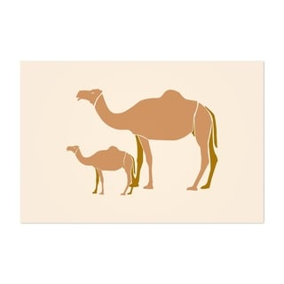 Noir Gallery Camel Illustration Desert Minimal Unframed Art Print/Poster