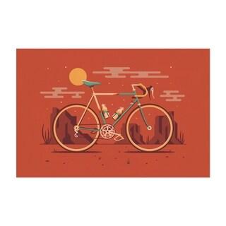 Noir Gallery Road Bicycle Desert Minimal Unframed Art Print/Poster