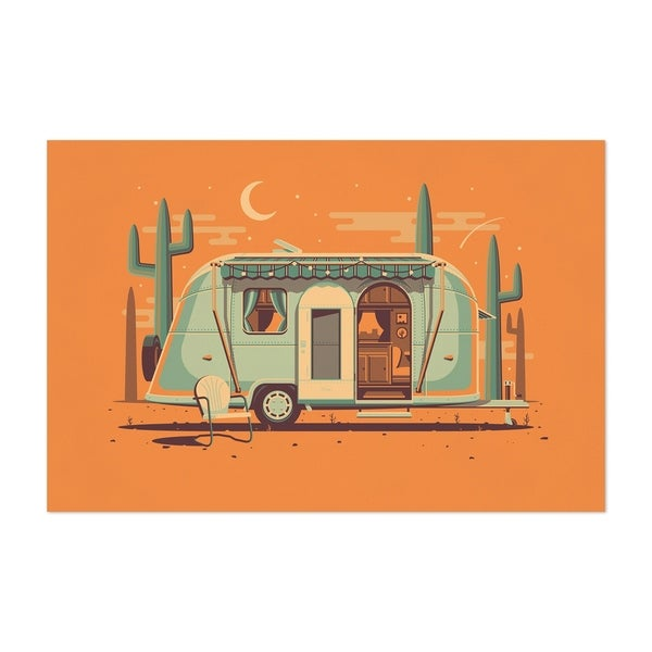 Noir Gallery Airstream Camping Desert Minimal Unframed Art Print/Poster