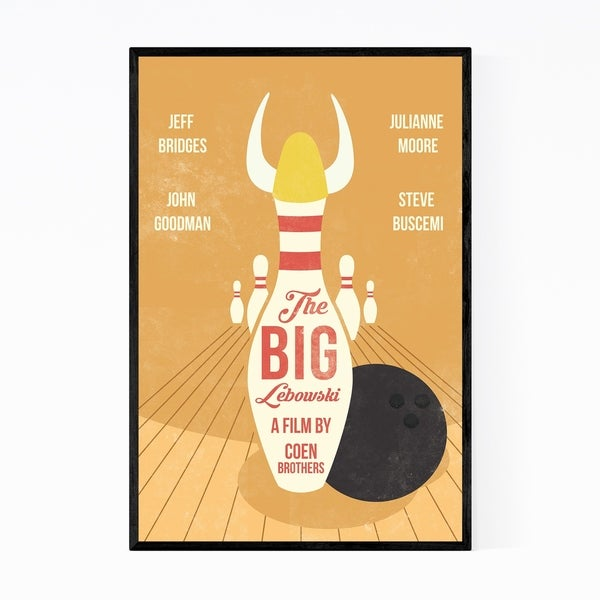 Noir Gallery Big Lebowski movie poster Framed Art Print